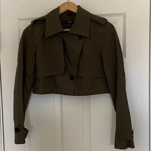 XS Simply Vera cropped trendy button up jacket